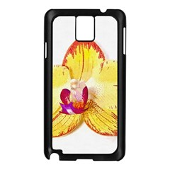 Phalaenopsis Yellow Flower, Floral Oil Painting Art Samsung Galaxy Note 3 N9005 Case (black) by picsaspassion