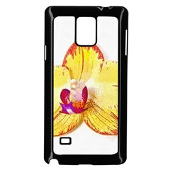 Phalaenopsis Yellow Flower, Floral Oil Painting Art Samsung Galaxy Note 4 Case (black) by picsaspassion