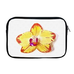 Phalaenopsis Yellow Flower, Floral Oil Painting Art Apple Macbook Pro 17  Zipper Case by picsaspassion