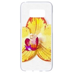 Phalaenopsis Yellow Flower, Floral Oil Painting Art Samsung Galaxy S8 White Seamless Case by picsaspassion