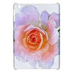 Pink Rose Flower, Floral Oil Painting Art Apple Ipad Mini Hardshell Case by picsaspassion