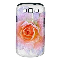 Pink Rose Flower, Floral Oil Painting Art Samsung Galaxy S Iii Classic Hardshell Case (pc+silicone) by picsaspassion