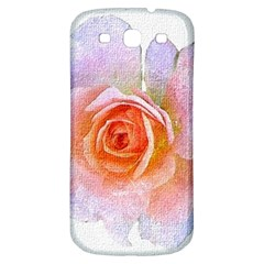 Pink Rose Flower, Floral Oil Painting Art Samsung Galaxy S3 S Iii Classic Hardshell Back Case by picsaspassion