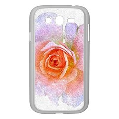 Pink Rose Flower, Floral Oil Painting Art Samsung Galaxy Grand Duos I9082 Case (white) by picsaspassion