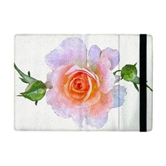 Pink Rose Flower, Floral Oil Painting Art Ipad Mini 2 Flip Cases by picsaspassion