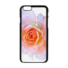 Pink Rose Flower, Floral Oil Painting Art Apple Iphone 6/6s Black Enamel Case by picsaspassion