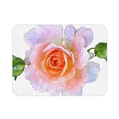 Pink Rose Flower, Floral Oil Painting Art Double Sided Flano Blanket (mini)  by picsaspassion