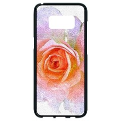 Pink Rose Flower, Floral Oil Painting Art Samsung Galaxy S8 Black Seamless Case