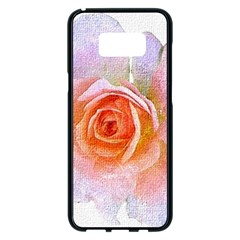 Pink Rose Flower, Floral Oil Painting Art Samsung Galaxy S8 Plus Black Seamless Case by picsaspassion
