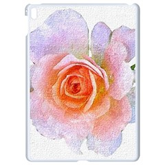 Pink Rose Flower, Floral Oil Painting Art Apple Ipad Pro 9 7   White Seamless Case by picsaspassion
