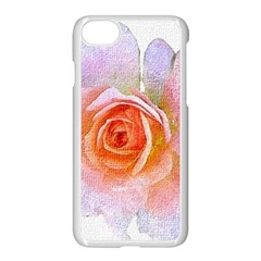 Pink Rose Flower, Floral Oil Painting Art Apple Iphone 8 Seamless Case (white) by picsaspassion