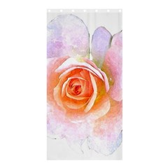 Pink Rose Flower, Floral Watercolor Aquarel Painting Art Shower Curtain 36  X 72  (stall)