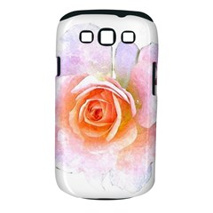 Pink Rose Flower, Floral Watercolor Aquarel Painting Art Samsung Galaxy S Iii Classic Hardshell Case (pc+silicone) by picsaspassion