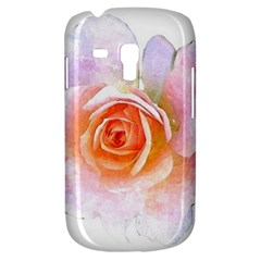 Pink Rose Flower, Floral Watercolor Aquarel Painting Art Galaxy S3 Mini by picsaspassion
