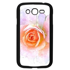 Pink Rose Flower, Floral Watercolor Aquarel Painting Art Samsung Galaxy Grand Duos I9082 Case (black) by picsaspassion