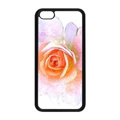 Pink Rose Flower, Floral Watercolor Aquarel Painting Art Apple Iphone 5c Seamless Case (black) by picsaspassion