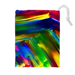 Abstract Acryl Art Drawstring Pouches (extra Large) by tarastyle