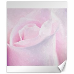Rose Pink Flower, Floral Aquarel   Watercolor Painting Art Canvas 8  X 10  by picsaspassion