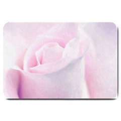 Rose Pink Flower, Floral Aquarel   Watercolor Painting Art Large Doormat  by picsaspassion
