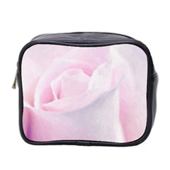 Rose Pink Flower, Floral Aquarel   Watercolor Painting Art Mini Toiletries Bag 2 Side by picsaspassion