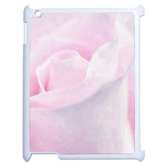Rose Pink Flower, Floral Aquarel   Watercolor Painting Art Apple Ipad 2 Case (white) by picsaspassion