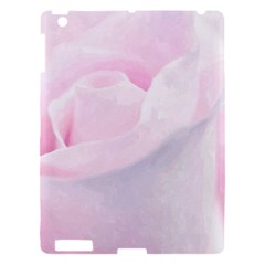 Rose Pink Flower, Floral Aquarel   Watercolor Painting Art Apple Ipad 3/4 Hardshell Case by picsaspassion