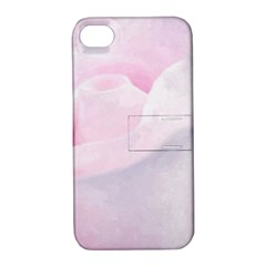 Rose Pink Flower, Floral Aquarel   Watercolor Painting Art Apple Iphone 4/4s Hardshell Case With Stand