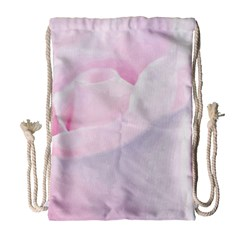Rose Pink Flower, Floral Aquarel - Watercolor Painting Art Drawstring Bag (large) by picsaspassion