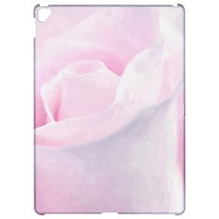 Rose Pink Flower, Floral Aquarel   Watercolor Painting Art Apple Ipad Pro 12 9   Hardshell Case by picsaspassion