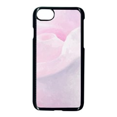 Rose Pink Flower, Floral Aquarel   Watercolor Painting Art Apple Iphone 8 Seamless Case (black) by picsaspassion