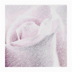 Rose Pink Flower  Floral Pencil Drawing Art Medium Glasses Cloth (2 Side) by picsaspassion