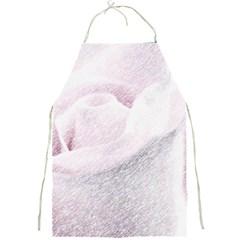 Rose Pink Flower  Floral Pencil Drawing Art Full Print Aprons