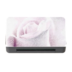 Rose Pink Flower  Floral Pencil Drawing Art Memory Card Reader With Cf by picsaspassion