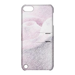 Rose Pink Flower  Floral Pencil Drawing Art Apple Ipod Touch 5 Hardshell Case With Stand by picsaspassion