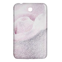 Rose Pink Flower  Floral Pencil Drawing Art Samsung Galaxy Tab 3 (7 ) P3200 Hardshell Case  by picsaspassion