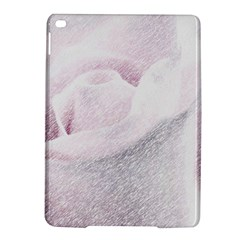 Rose Pink Flower  Floral Pencil Drawing Art Ipad Air 2 Hardshell Cases by picsaspassion