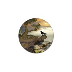 The Lonely Wolf On The Flying Rock Golf Ball Marker (10 Pack) by FantasyWorld7