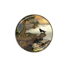 The Lonely Wolf On The Flying Rock Hat Clip Ball Marker (10 Pack)
