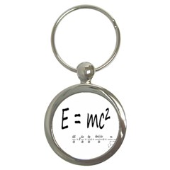 E=mc2 Formula Physics Relativity Key Chains (round)  by picsaspassion