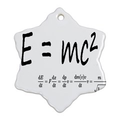 E=mc2 Formula Physics Relativity Snowflake Ornament (two Sides) by picsaspassion