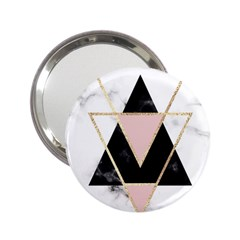 Triangles,gold,black,pink,marbles,collage,modern,trendy,cute,decorative, 2 25  Handbag Mirrors by 8fugoso