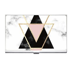 Triangles,gold,black,pink,marbles,collage,modern,trendy,cute,decorative, Business Card Holders by 8fugoso