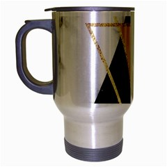 Triangles,gold,black,pink,marbles,collage,modern,trendy,cute,decorative, Travel Mug (silver Gray) by 8fugoso
