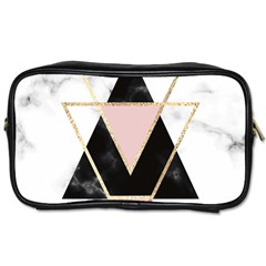 Triangles,gold,black,pink,marbles,collage,modern,trendy,cute,decorative, Toiletries Bags 2 Side by 8fugoso