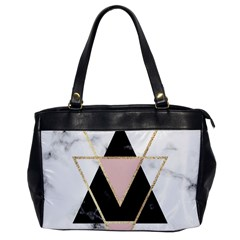 Triangles,gold,black,pink,marbles,collage,modern,trendy,cute,decorative, Office Handbags by 8fugoso