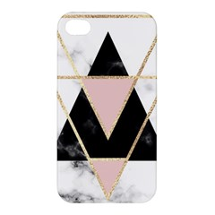 Triangles,gold,black,pink,marbles,collage,modern,trendy,cute,decorative, Apple Iphone 4/4s Hardshell Case by 8fugoso