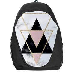 Triangles,gold,black,pink,marbles,collage,modern,trendy,cute,decorative, Backpack Bag by 8fugoso