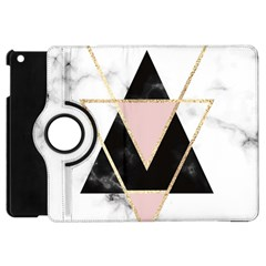 Triangles,gold,black,pink,marbles,collage,modern,trendy,cute,decorative, Apple Ipad Mini Flip 360 Case by 8fugoso