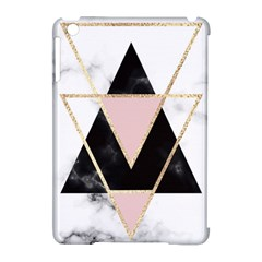 Triangles,gold,black,pink,marbles,collage,modern,trendy,cute,decorative, Apple Ipad Mini Hardshell Case (compatible With Smart Cover) by 8fugoso