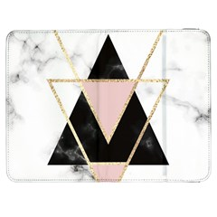 Triangles,gold,black,pink,marbles,collage,modern,trendy,cute,decorative, Samsung Galaxy Tab 7  P1000 Flip Case by 8fugoso
